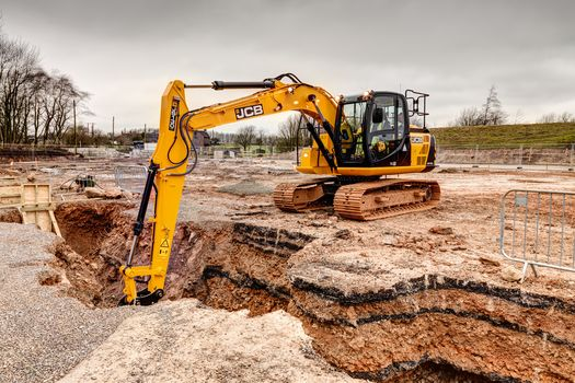 Tracked excavator, application