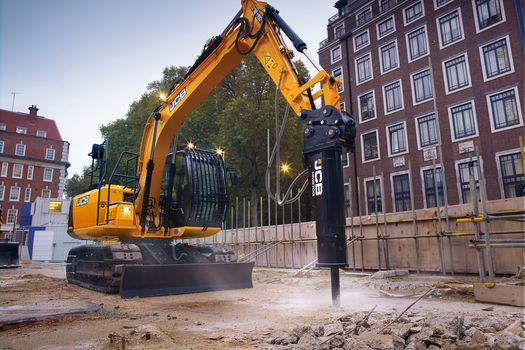 Tracked excavator, application, demolition