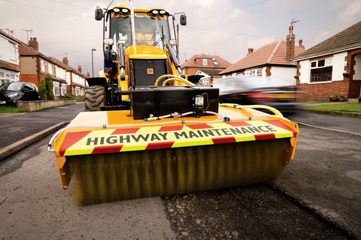 BHL PotholeMaster with Sweeper attachment