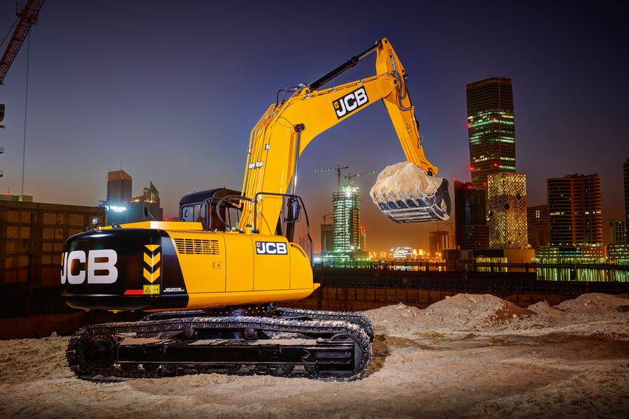 JS205, Tracked excavator, application, construction