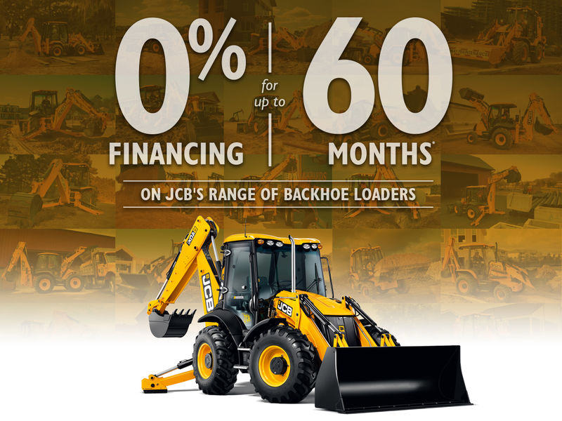 o% for 60 months special offer on Backhoe Loaders