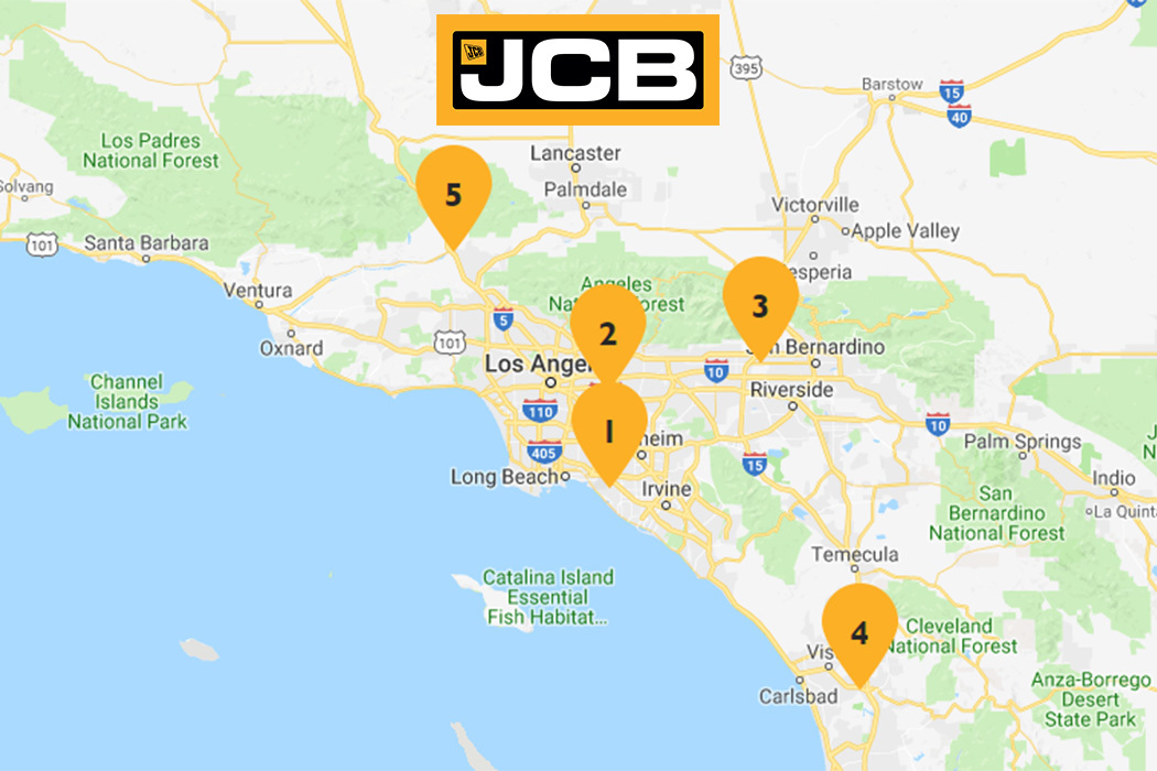 Map of JCB of SoCal area