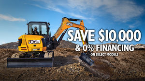 Mini excavator offer banner for landing page - Q3