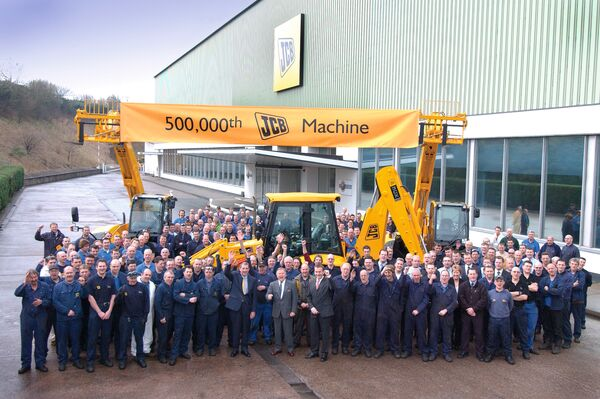 500,000th JCB machine