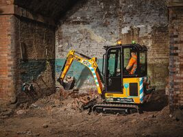 19C-1E electric mini excavator with cab
