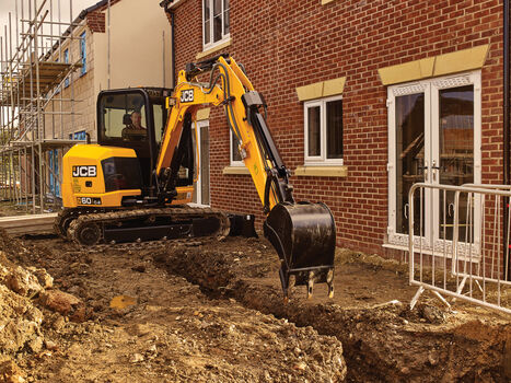 Mini excavator application image of 60C-2 stage V